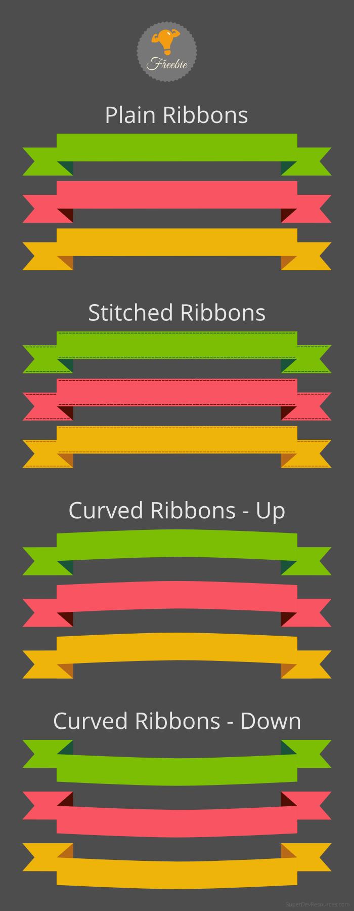 free-ribbons-set